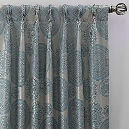 Medallion Pinch Pleat Window Curtain Panel