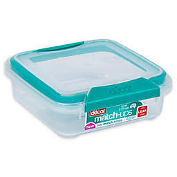 Décor® Match-Ups® Clips 21.3 oz. Square Food Storage Container in Teal