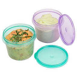 Décor® Match-Ups® Clips 4-Piece 6-Cup Lunchbreak Snack Tub