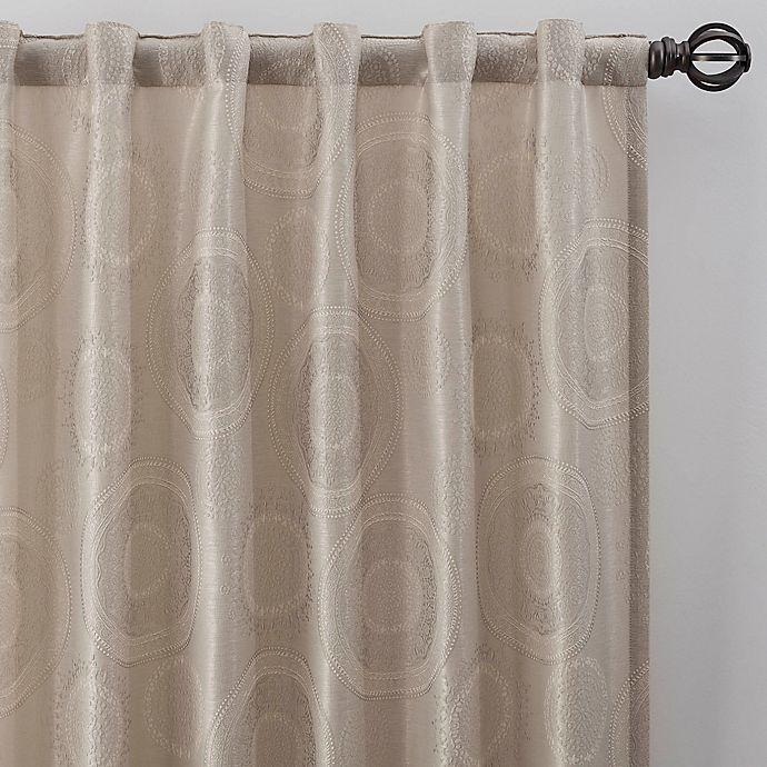 Alternate image 1 for Medallion 63-Inch Rod Pocket/Back Tab Window Curtain Panel in Linen