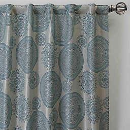 Medallion Rod Pocket/Back Tab Window Curtain Panel (Single)