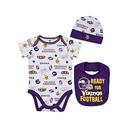 NFL Minnesota Vikings 3-Piece Bodysuit Set