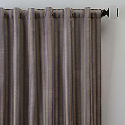 Rail Stripe 95-Inch Rod Pocket/Back Tab Window Curtain Panel in Haze