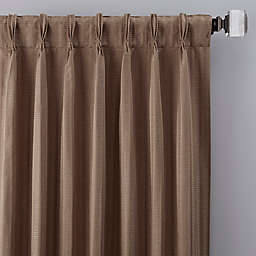 Rail Stripe Pinch Pleat Window Curtain Panel (Single)
