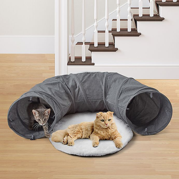Alternate image 1 for Pawslife® Cat Tunnel Bed in Grey