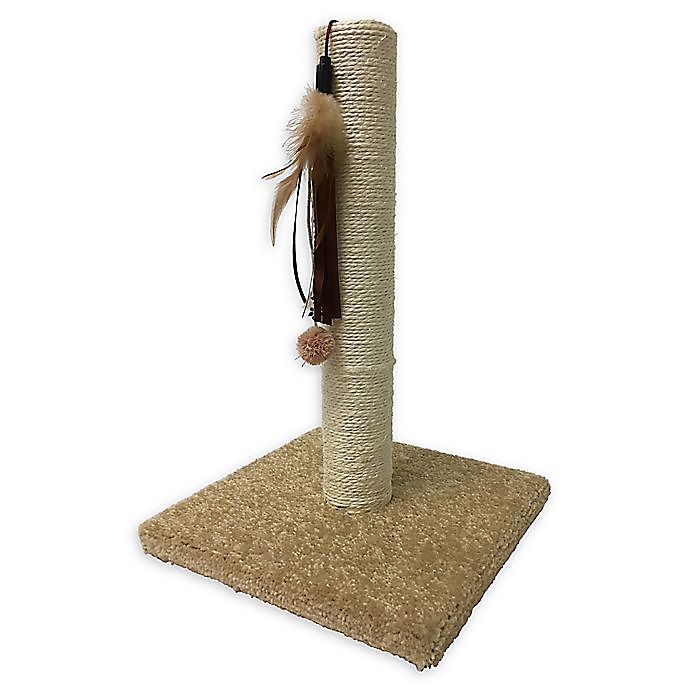 Alternate image 1 for Unique Petz™ Cat Scratching Post in Brown