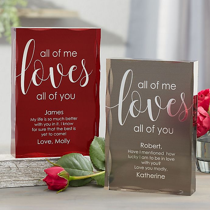 Alternate image 1 for All Of Me Loves All Of You Personalized Colored Keepsake