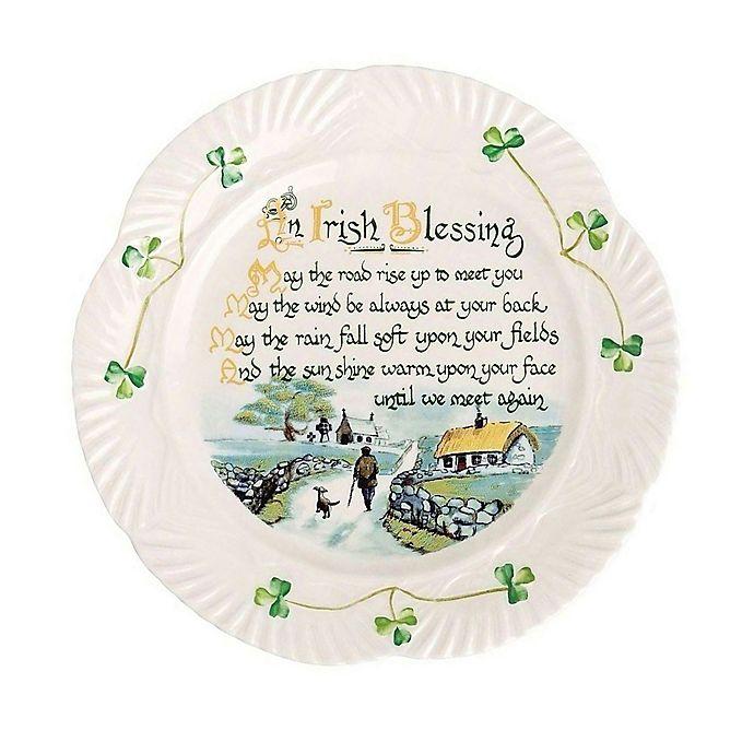 Alternate image 1 for Belleek Harp Irish Blessing Plate