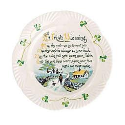 Belleek Harp Irish Blessing Plate