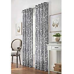 Bradford 84-Inch Grommet Window Curtain Panel in Grey