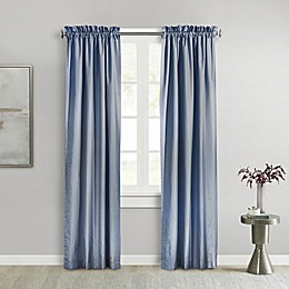 Commonwealth Home Fashions Ticking Stripe 45-Inch Rod Pocket Insulated Window Curtain Panel in Navy