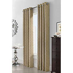 Esquire 63-Inch Grommet Window Curtain Panel in Gold