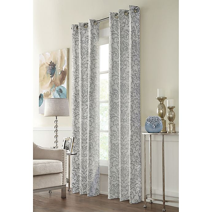 Alternate image 1 for Conrad 95-Inch Grommet Window Curtain Panel in Grey