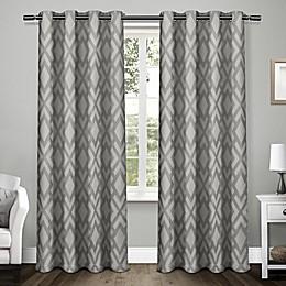 Easton 96-Inch Grommet Window Curtain Panel Pair in Black Pearl