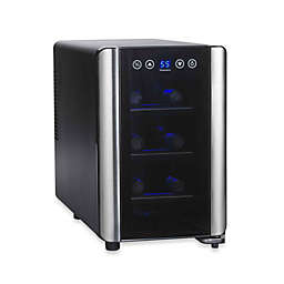 Wine Enthusiast® Silent Touchscreen 6-Bottle Single-Zone Wine Cooler
