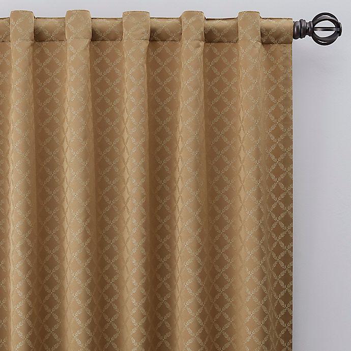 Alternate image 1 for Regency 108-Inch Rod Pocket/Back Tab Window Curtain Panel in Gold