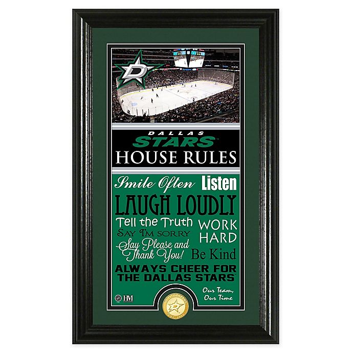 Alternate image 1 for NHL Dallas Stars House Rules Photo Mint