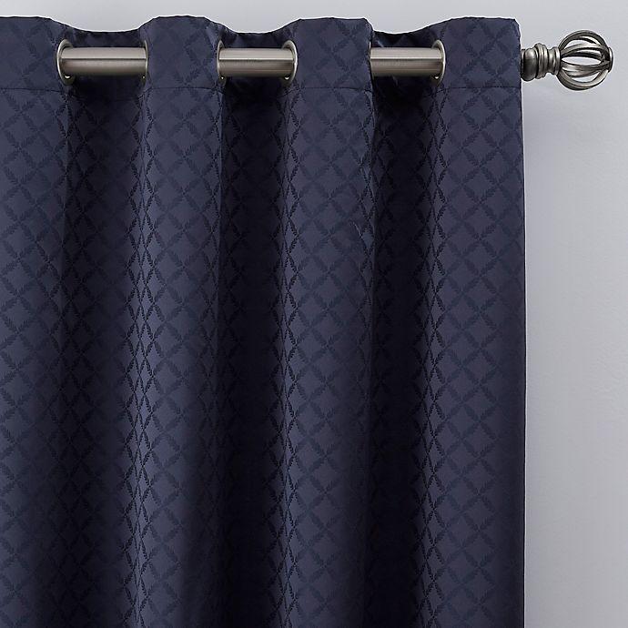 Alternate image 1 for Regency 84-Inch Grommet Window Curtain Panel in Navy