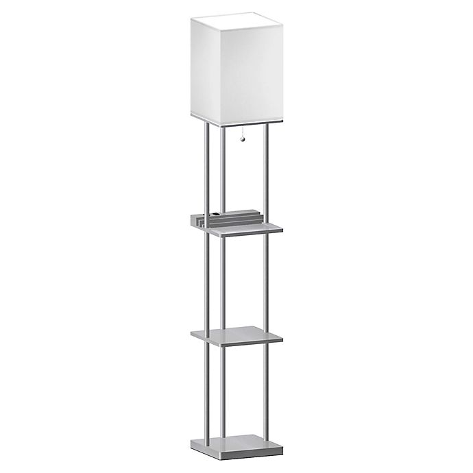 Equip Your Space 201 Tag 232 Re Floor Lamp With Charging Station And Bulb Bed Bath Amp Beyond