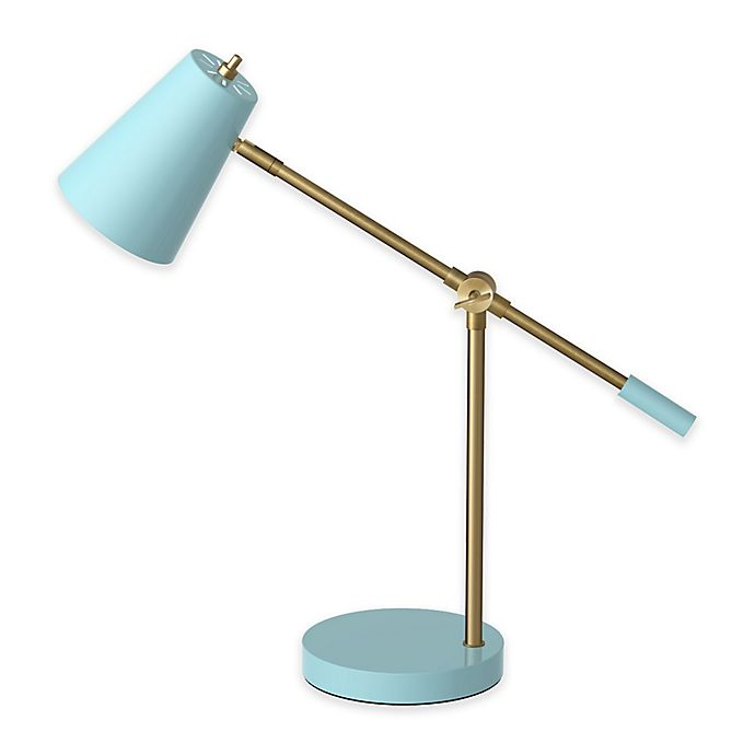 Alternate image 1 for Marmalade™ LED Desk Lamp with USB Port in Sky Blue/Brass