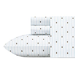 Poppy & Fritz Bumble Bees Sheet Set Twin Xl White