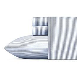 Poppy & Fritz Oxford Stripe Sheet Set TXl Wht/Blu