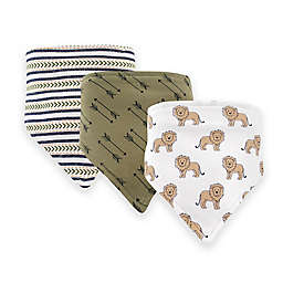Hudson Baby® 12-Pack Lions Bandana Bibs in Brown