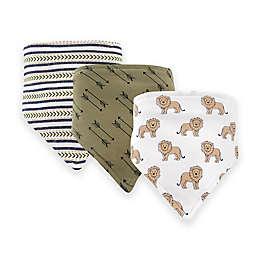 Hudson Baby® 12-Pack Lions Bandana Bibs in Brown