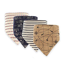 Hudson Baby® 12-Pack Airplanes Bandana Bibs in Beige