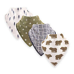 Hudson Baby® 12-Pack Bears Bandana Bibs in Brown