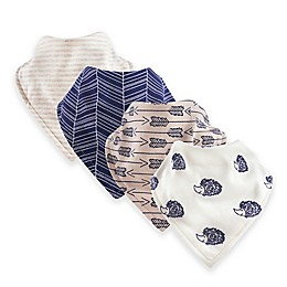 Touched by Nature® 12-Pack Hedgehog Organic Cotton Bandana Bibs in Beige