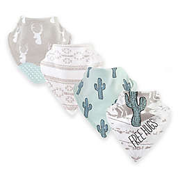 Yoga Sprout ® 12-Pack Free Hugs Bandana Bibs With Teether in Green