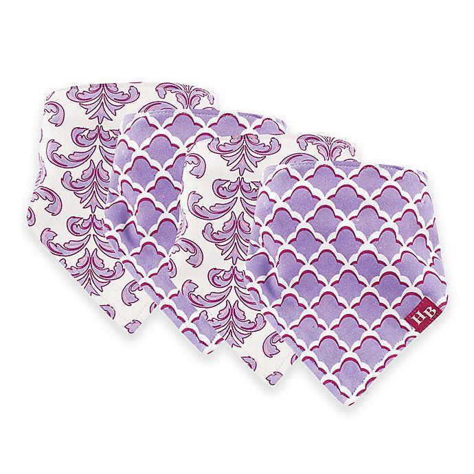 Alternate image 1 for Hudson Baby® 12-Pack Brocade Bandana Bibs in Purple