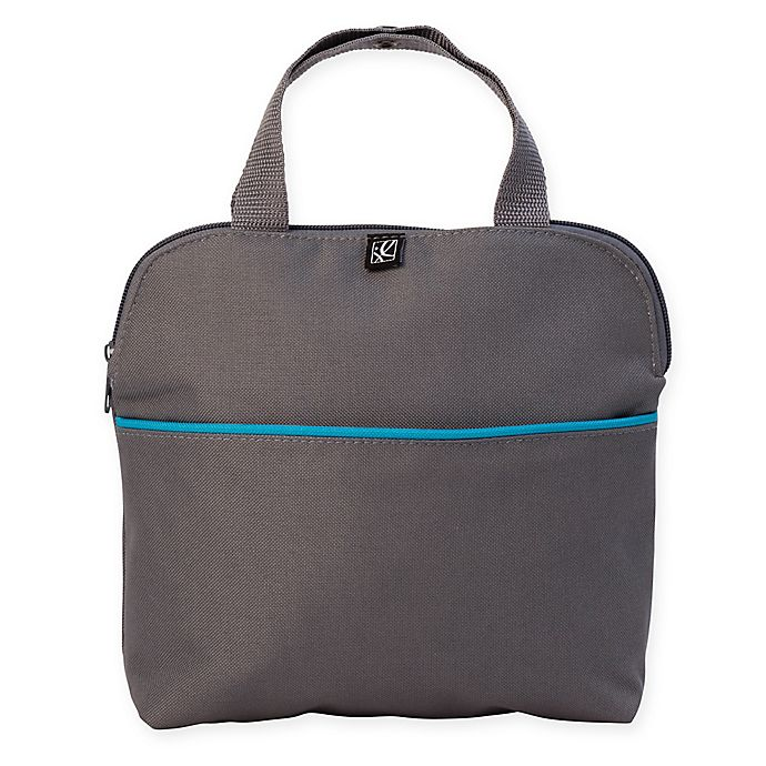 Alternate image 1 for J.L. Childress MaxiCOOL 4-Bottle Cooler in Grey/Teal