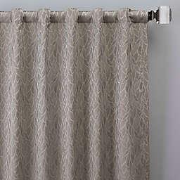 Sebille Jacquard 108-Inch Rod Pocket/Back Tab Window Curtain Panel in Latte (Single)