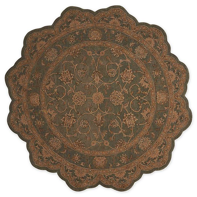 Alternate image 1 for Nourison™ Heritage Hall Aqua 6' X 6' Tufted Area Rug in Brown