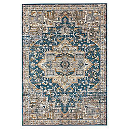Bee & Willow™ Home Bedford Medallion 2'6 x 3'9 Accent Rug in Blue/Grey