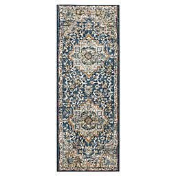 Bee & Willow™ Home Bedford Medallion 5' Runner in Blue/Grey