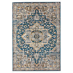 Bee & Willow™ Home Bedford Medallion Rug in Blue/Grey