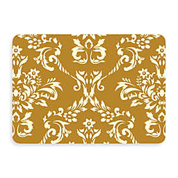 Bungalow Flooring New Wave 22-Inch x 31-Inch Damask Kitchen Mat in Harvest Gold