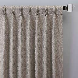 Sebille Jacquard 63-Inch Pinch Pleat Window Curtain Panel in Latte (Single)