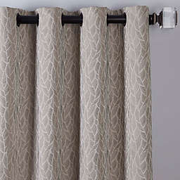 Sebille Jacquard 84-Inch Grommet Window Curtain Panel in Latte (Single)