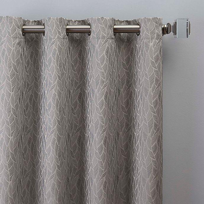 Alternate image 1 for Sebille Jacquard 84-Inch Grommet Window Curtain Panel in Silver Blue