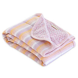Burt's Bees Baby® Sunset Stripe Organic Cotton Reversible Blanket in Blossom