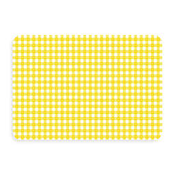 Bungalow Flooring New Wave 18-Inch x 27-Inch Yellow Gingham Kitchen Mat