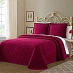 Wedding Ring Queen Bedspread in Red