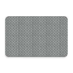 Bungalow Flooring New Wave 18-Inch x 27-Inch Diamond Plate Kitchen Mat