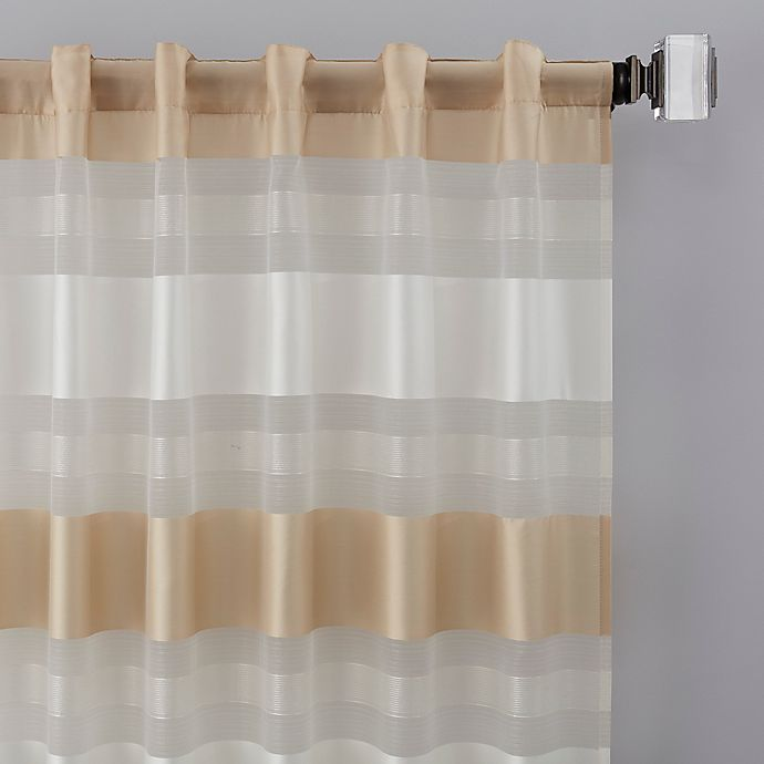 Alternate image 1 for Thalia 108-Inch Rod Pocket/Back Tab Window Curtain Panel in Gold