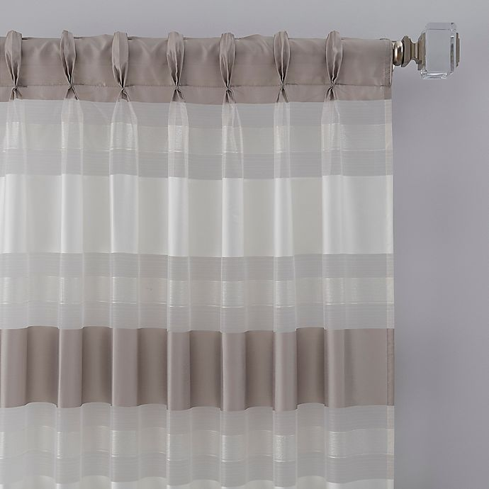 Alternate image 1 for Thalia 63-Inch Pinch Pleat Window Curtain Panel in Grey