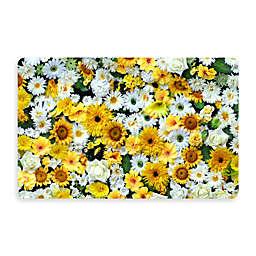 Bungalow Flooring New Wave 18-Inch x 27-Inch Garden Flowers Kitchen Mat